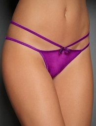 Plus Size Sexy Purple Double Straps Panty