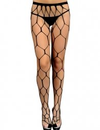 Sultry Hot Hexagon Net Pantyhose