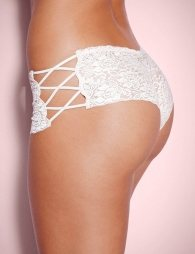White Sexy High Waist Floral Lace Strappy Panty