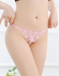 Pink Flower Sexy Panty