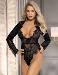 Exquisite Lace Sleeve Teddy