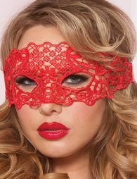 Enchanting Red Lace eye mask