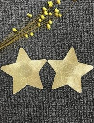 Star shaped sequins Gold Nipple Cover