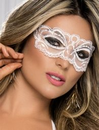 Enchanting white Lace eye mask