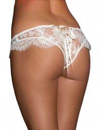 White Ribbon Eyelashes Lace Panty