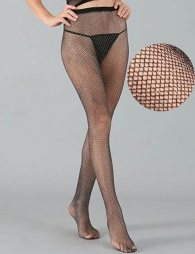 Fashion Sparkle Fishnet Black Stocking
