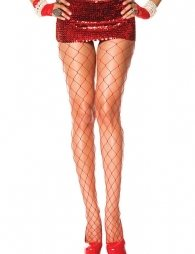 Fashion Red Fishnet Stocking