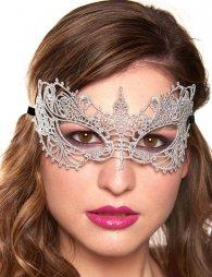 Glamorous Silver Lace Eye Mask