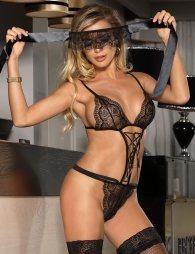 Charming Black Lace Teddy