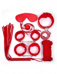 Red Leather Bondage Adult Sexy Toys