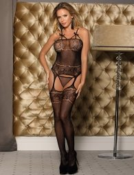 Crotchless Fishnet Black Bodystocking