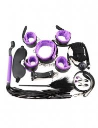 Purple Leather Bondage Adult Sexy Toys