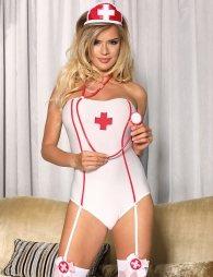Sexy Nurse Costume Teddy