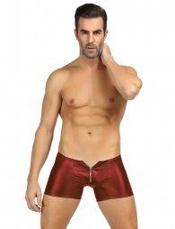 Red Men's Pants With Zipper