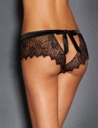 Sexy Black Lace Silk Strappy Panty