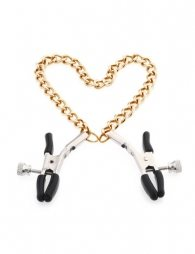 Gold Chain Nipple Clips