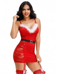 Plus Size Red Christmas Babydoll