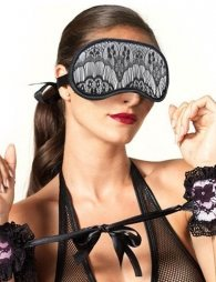 SM Charming Black Lace Eye Mask