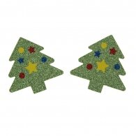 Shiny Christmas Tree Disposable Nipple Stickers