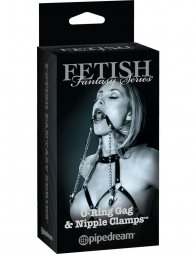 Fetish Fantasy Series Limited Edition O-Ring Gag & Nipple Clamps