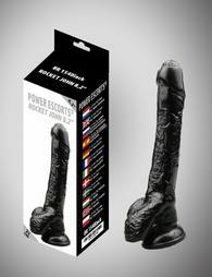Rocket john black dildo 8,2 inch 21 cm