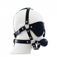 Imbracatura per viso con maschera per occhi e morso total head h
