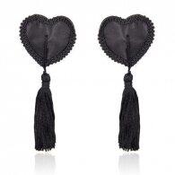 Heart nipples tassels black