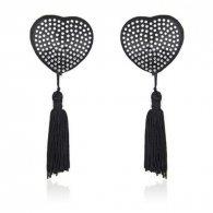Heart shine nipples tassels (argento)