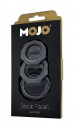 Δακτυλίδια πέους MOJO BLACK FACET COCKRING