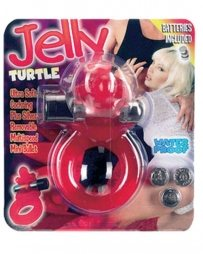Jelly Turtle Cockring Red
