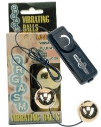 Orgasm Vibrating Ball - Gold