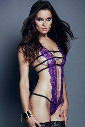 Purple Lace Teddy Lingerie