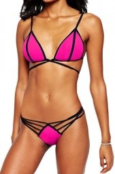 Strappy Moulded Triangle Bikini Top