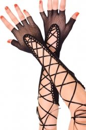 Fishnet Fingerless Gloves