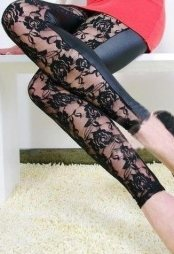 Front Lace Leggings