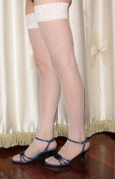 White Net Stockings
