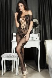 Open Crotch Lace Bodystocking