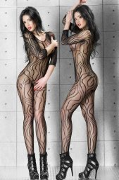 Dynamic Pattern Lace Body Stockings
