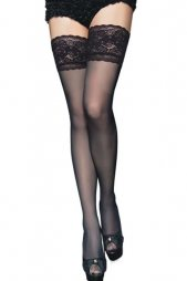 Stay up Stockings with Floral Lace