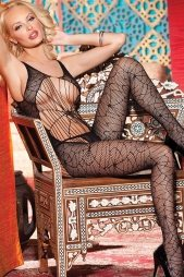 Black Spider Web Bodystocking