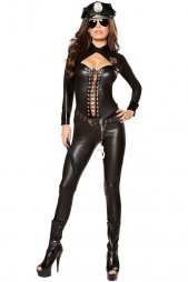 Frisky Officer Costume 6pcs