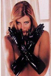 Μαύρα γάντια από Latex σε large μέγεθος